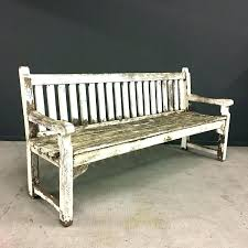 benches white wooden benches distressed wood bench items similar to garden for ben