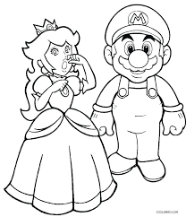 Super Mario Coloring Pages Printable Super Bros Coloring Pages