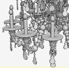 5 antique chandelier royalty free 3d model preview no