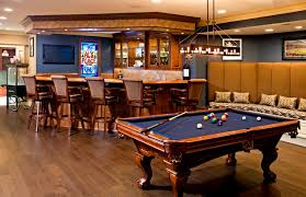 basement pool table. Beautiful Basement Bar With Builtin Banquet Style Seating U0026 Pool Table Traditionalbasement For Basement Pool Table L
