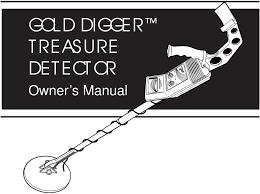 Treasure Hunter Md 3030 Owners Manual Gold Digger Treasure Detector Owner S Manual Pdf