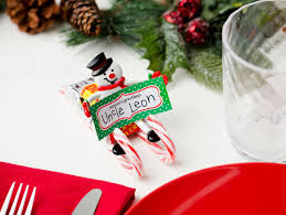 Holiday Placecards Candy Sled Holiday Place Card Holders