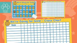 Teachers Pet Going For Gold Behaviour Class Chart