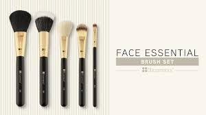 face essential 5 piece brush set bh cosmetics