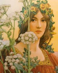 lady of the cow parsley her paintings were often inspired by arthurian romance in her early years sonrel produced ilrations in art nouveau style