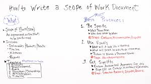 sample scope of work how to write a scope of work projectmanager com