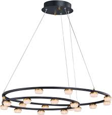 et2 e23166 75bkgld on contemporary black gold led chandelier light loading zoom