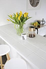 white tile countertops. Interesting White Tiled Countertop DIY Click Through For Tutorial Inside White Tile Countertops T