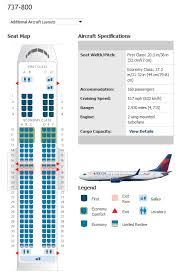 American Airlines 738 Seating Chart Conclusive Boeing 737 800 Seating Chart Seatguru Seat Map