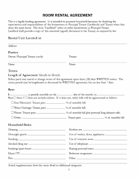 Room For Rent Contract 39 Simple Room Rental Agreement Templates Template Archive