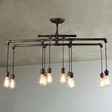 large pendant lighting. BAYCHEER HL409482 Industrial Style Metal Multi-Light Large Pendant Lighting  Hanging Pipe Light Lamp Fixture Large Pendant Lighting