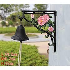 JenLn Personality Vintage 3D Peony Flower <b>Cast Iron Doorbell</b> ...