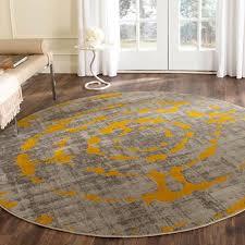 safavieh porcello light grey yellow rug 6397 round round yellow rug for nursery