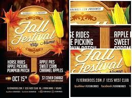 Fall Festival Flyers Template Free Fall Fest Flyer Template Amylambert