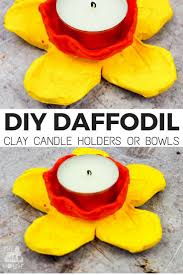 DIY Daffodil Clay Pots or Candle Holders. Summer Kid CraftsSpring CraftsKids  CraftsAir Drying ...