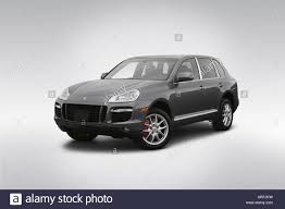 2008 Porsche Cayenne Turbo in Gray - Front angle view Stock Photo ...