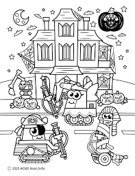 What i colored in october 2020! Free Rock Drill Coloring Pages To Pass The Time Word Rock Drills