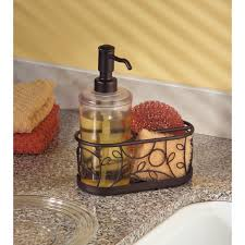Mason Jar Bathroom Accessories Kitchen Sponge Caddy Soap And Lotion Set Mason Jar Bathroom On