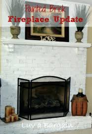 update brick fireplace surprising design amazing how to paint a with stone hearth update brick fireplace