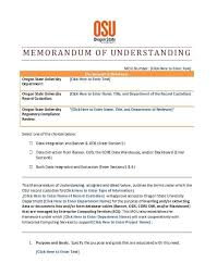 50 Free Memorandum Of Understanding Templates Word Template Lab