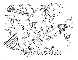New Years Coloring Pages 2016 L Duilawyerlosangeles Happy New Year Colouring Sheet 2016L