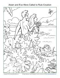 Small Picture Adam and Eve Were Called To Rule Creation Coloring Page