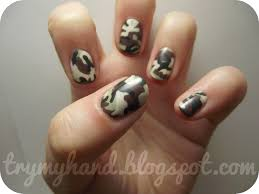 Try My Hand: Alphabet Nail Art Challenge : C for Camo