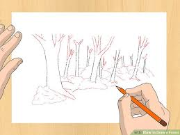 image led draw a forest step 5