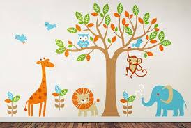 Wall Decal: Nice Safari Wall Decals for Nursery Baby Jungle Animal ...