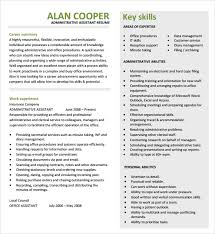 Administrative Assistant Resume 8 Download Free Documents In Pdf