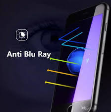 for iphone 8 tempered glass 2 5d anti blue light clear hd 9h screen protector blue light blocking eye protect for iphone 8 7 6 plus 5s one plus one