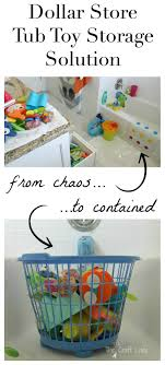 1 tub toy storage solution get that tub toy clutter under control for only