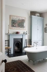 Bathroom: Sleek And Modern Bathroom With Fireplaces - Bathroom Fireplaces