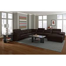 American Signature Furniture Ventana II Leather 4 Pc Sectional