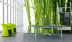 wall decal for interior decoration ideas cool green theme modern workspace interior decor with cool