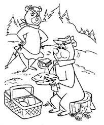 Clip arts related to : Yogi Bear Coloring Pages Page 1 Line 17qq Com
