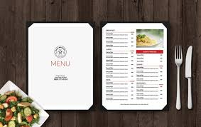 Restaurant Menu Template Restaurant Menu Template Menu Design Double Sided Menu Printable Menu Editable Menu Word Menu Google Doc Menu Double Sided