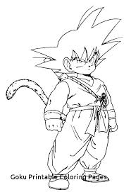 Goku Printable Coloring Pages Coloring Page Dragon Ball Z Cartoons