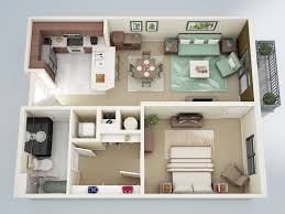 Small One Bedroom Apartment Designs 12 Lovely Idea One Bedroom Apartments Design A Small Space