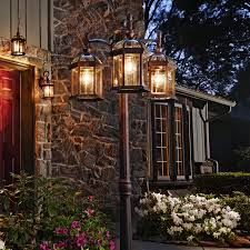 post lights post light illuminating an entryway