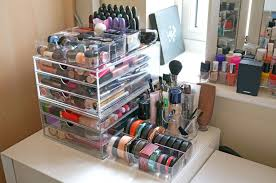 Tempting More Organized Image In Fresh With Makeup Storage Ideas Bathroom Makeup  Storage Ideas Also Minimalist