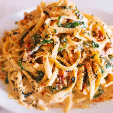 linguine with spinach and sun dried