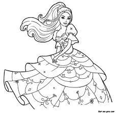 Free Print Out Barbie Beautiful Dress