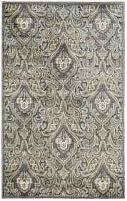 remarkable damask area rug graphic illusions collection in grey design by