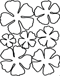 Paper Flower Templates Free Download Five Petal Flower Template Free Download Doc Format Shapes Templates