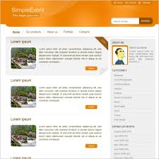Simple Website Templates Interesting Simple Event Template Free Website Templates In Css Js Format