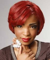 Charming short red hairstyles ideas Burgundy Hair Nice And Charming Bob Hair With Cool Long Layers And Pretty Sideparted Bangs Nice Choice Of Red Color For Ones Hair Short Hair Cuts Shorthaircutcom 30 Short Cuts For Black Women