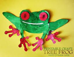 tree frog template printable tree frog craft learncreatelove