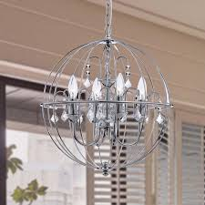 orb crystal chandelier the aquaria pertaining to with crystals decorations 14