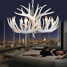 effortinc luxury vitage resin antler chandelier white living room dining room uk